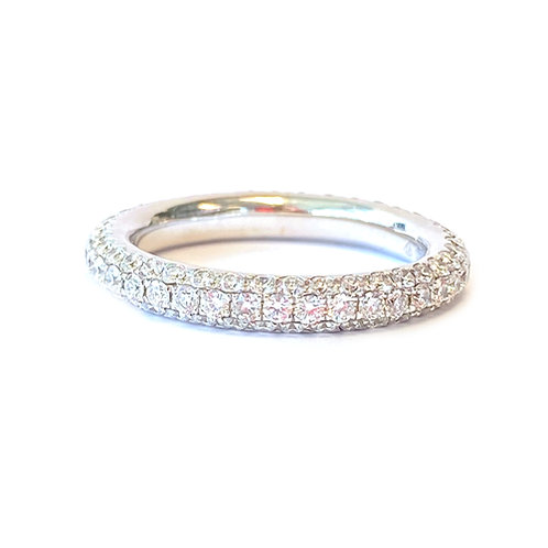 1.56CTTW. PAVE DIAMOND ETERNITY BAND