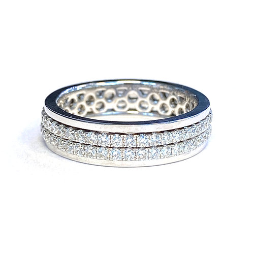 DOUBLE ROW DIAMOND SPINNING ETERNITY BAND