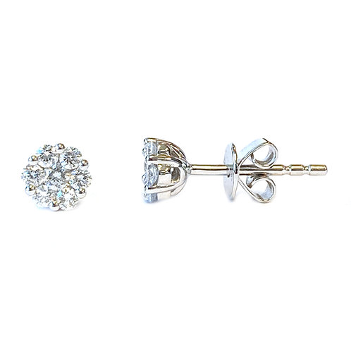 CLUSTER STYLE DIAMOND STUD EARRINGS