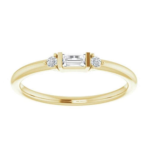 14KTYG DIAMOND STACKABLE RING
