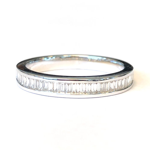 CHANNEL SET DIAMOND BAGUETTE ANNIVERSARY BAND