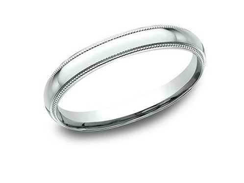 Benchmark® 2.5MM CLASSIC STYLE WITH MILGRAIN DETAILINGS MEN'S BAND SIZE6.5