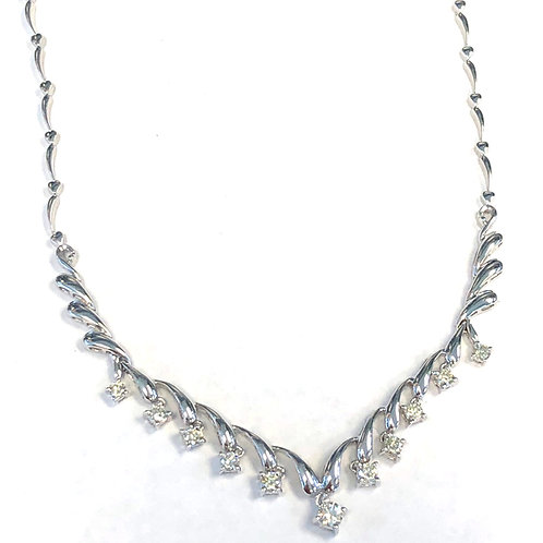 18KTWG DIAMOND DANGLE NECKLACE