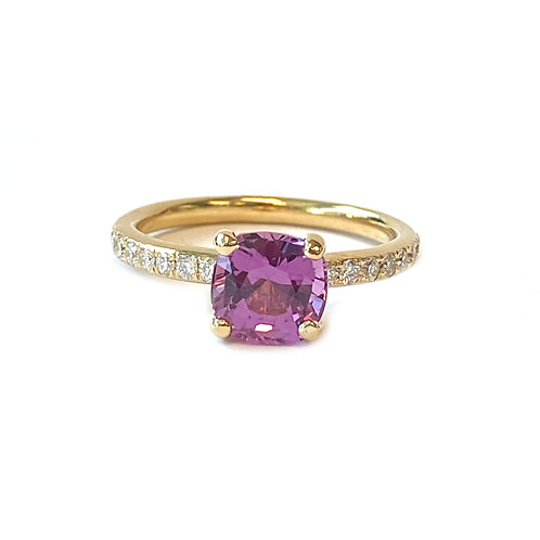 2.17CT. GIA CERTIFIED PINK SAPPHIRE & DIAMOND RING