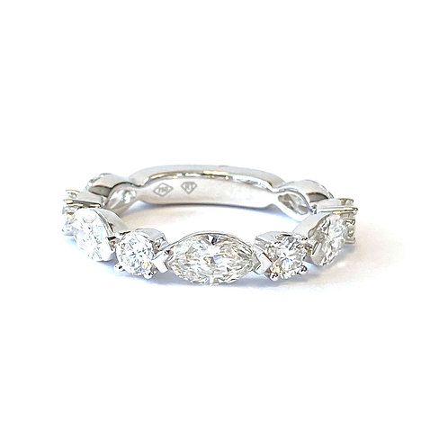 2.17CT. MARQUISE & ROUND DIAMOND BAND