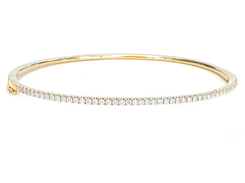 0.53CT. 18KT ROSE GOLD DIAMOND BANGLE