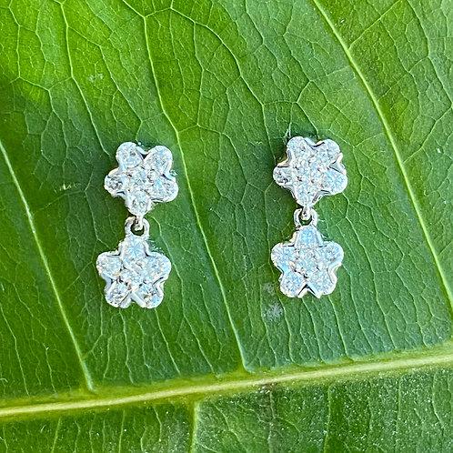 18KTWG PETITE DIAMOND DANGLE EARRINGS