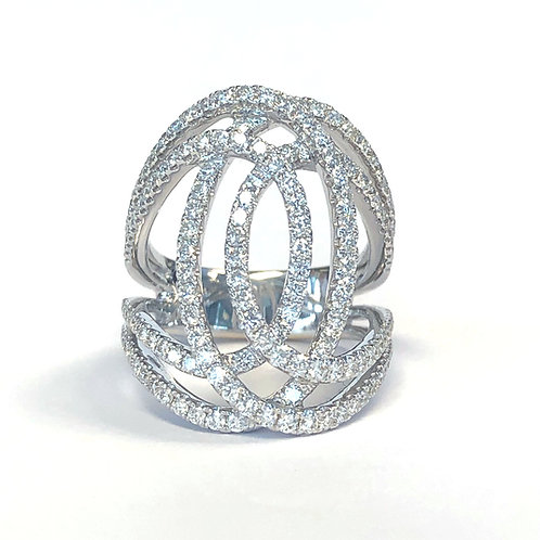 18KTWG DIAMOND COCKTAIL RING