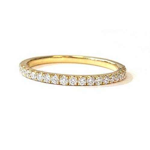 0.25CT. FRENCH PAVE SET DIAMOND BAND 18KTYG