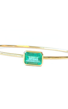 1.89CT. GIA COLOMBIA GREEN EMERALD BANGLE