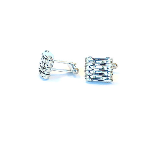 STAINLESS STEEL CUFFLINKS SET OF 2