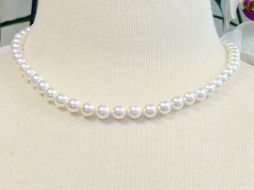 7-7.5MM JAPANESE AKOYA PEARL NECKLACE 18""