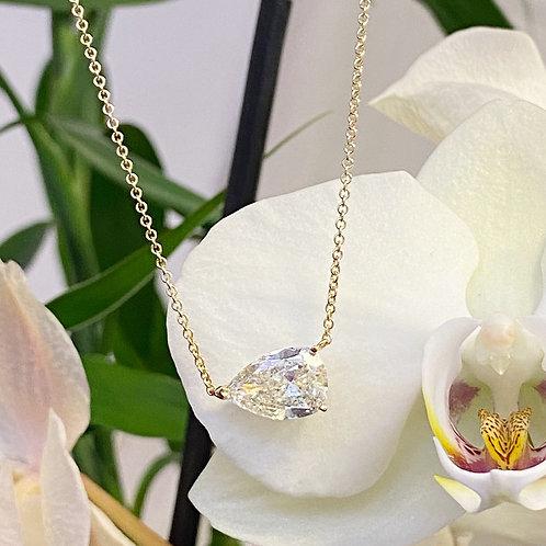 2.91CT. GIA PEAR BRILLIANT DIAMOND SOLITAIRE PENDANT