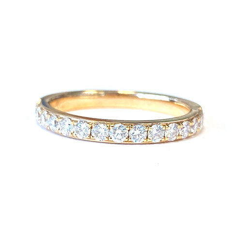 0.50CTTW. CLASSIC DIAMOND WEDDING BAND