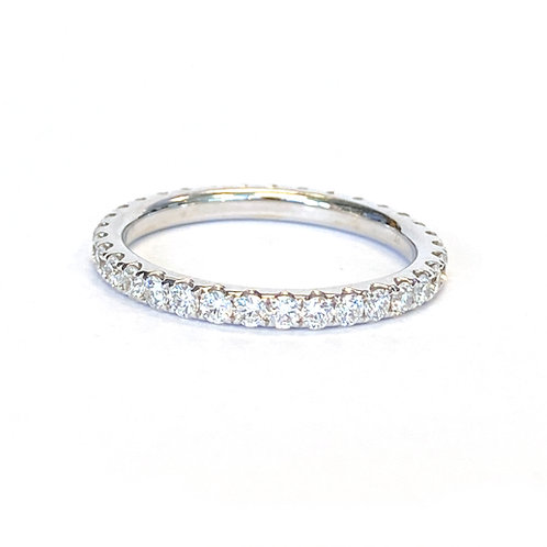 0.80CT. PAVE STYLE ROUND DIAMOND ETERNITY BAND