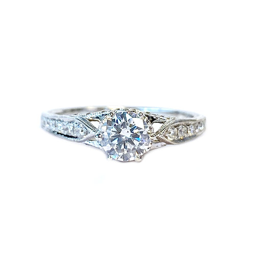 0.55CT. GIA D/SI1 DIAMOND ENGAGEMENT RING