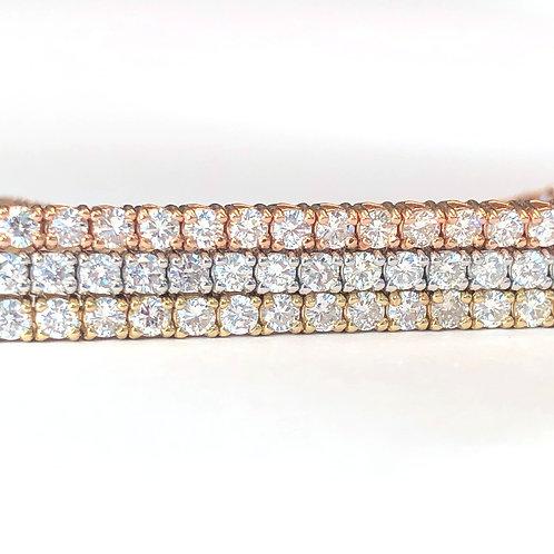 TRI-COLOR GOLD DIAMOND TENNIS BRACELET