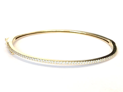 0.59CT. 14KTYG DIAMOND BANGLE BRACELET