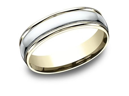 Benchmark® 6MM TWO-TONED GOLD HIGH POLISHED MEN'S BAND SIZE 10