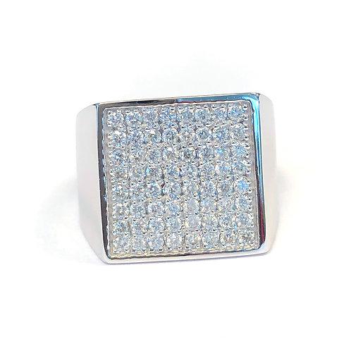 14KTWG DIAMOND RIGHT HAND RING