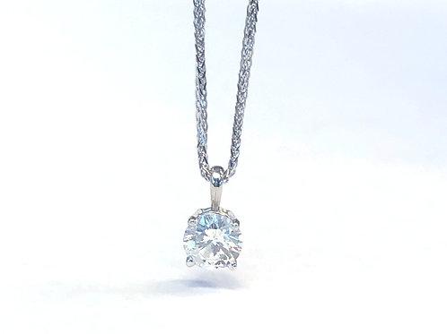 0.50CT. ROUND DIAMOND SOLITAIRE PENDANT