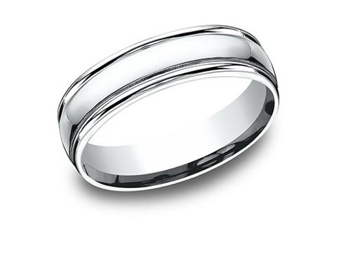 Benchmark® 6MM HIGH-POLISHED CLASSIC MEN'S BAND SIZE10.5