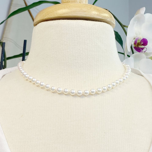 """6-6.5MM JAPANESE CULTURED PEARL NECKLACE 17"""""""