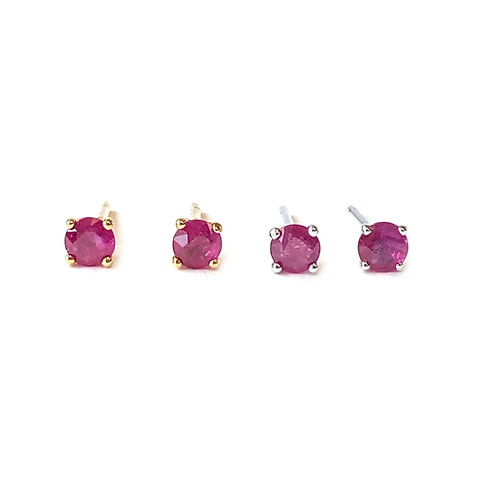 3.5MM 18KT RUBY STUD EARRINGS