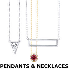 diamond and gemstone necklaces and pendant