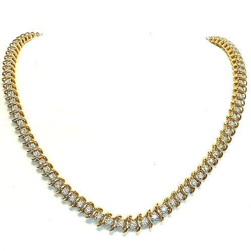 3.50CT. CLASSIC S SHAPE DIAMOND TENNIS NECKLACE