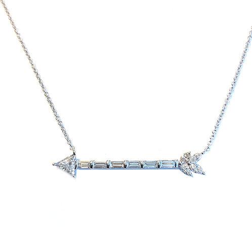 DIAMOND ARROW NECKLACE 18KTWG