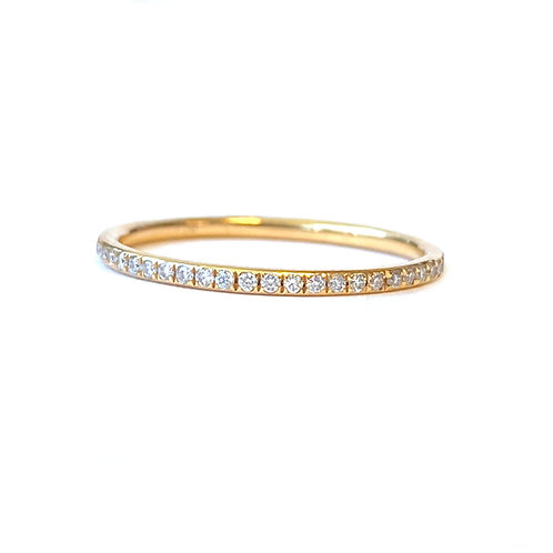 DELICATE PETITE PAVE DIAMOND ETERNITY BAND 6.5