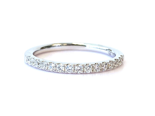 PAVE ANNIVERSARY STYLE STACKABLE BAND WITH 0.27CT OF DIAMONDS IN 18KT WHITE GOLD
