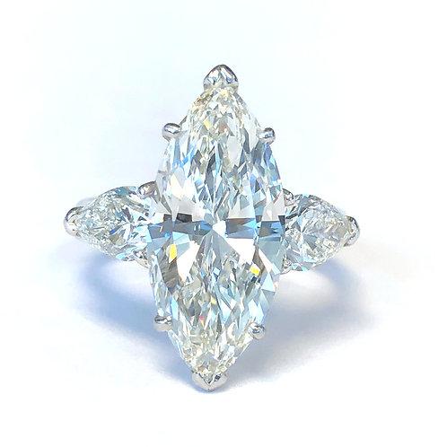 5.02 CT. MARQUISE DIAMOND ENGAGEMENT RING