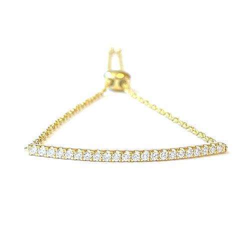 18KT DIAMOND BAR STYLE ADJUSTABLE BRACELET