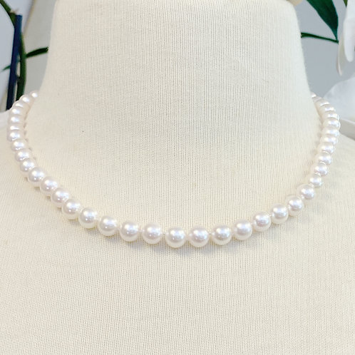 """7-7.5MM JAPANESE AKOYA PEARL NECKLACE 18"""""""