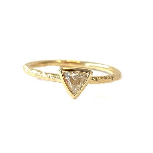 0.23CT. CUSTOM TRILLION CUT DIAMOND BEZEL RING