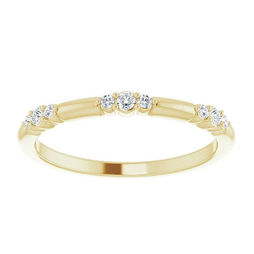 14KTYG 1/8 CTTW. DIAMOND STACKABLE RING