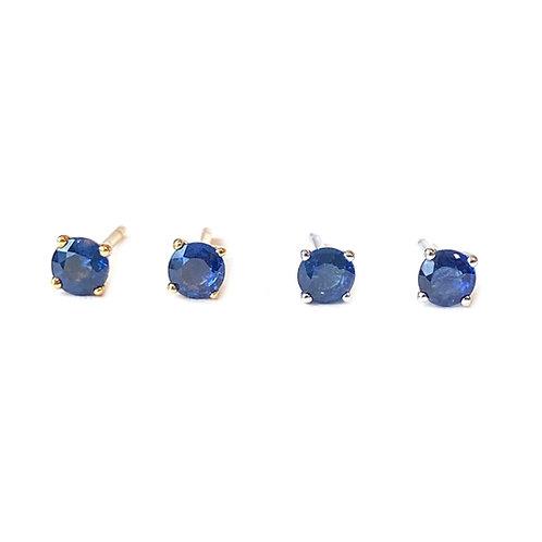 3.5MM 18KT BLUE SAPPHIRE STUD EARRINGS