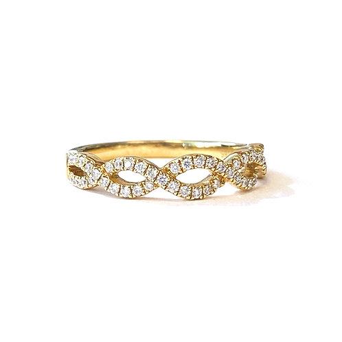 INFINITY TWIST DIAMOND BAND 18KTYG