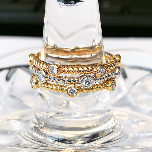 BEZEL DIAMOND ROPE STACK-ABLE BAND