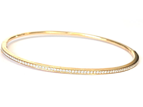 0.38CT. DIAMOND ROSE GOLD BANGLE BRACELET