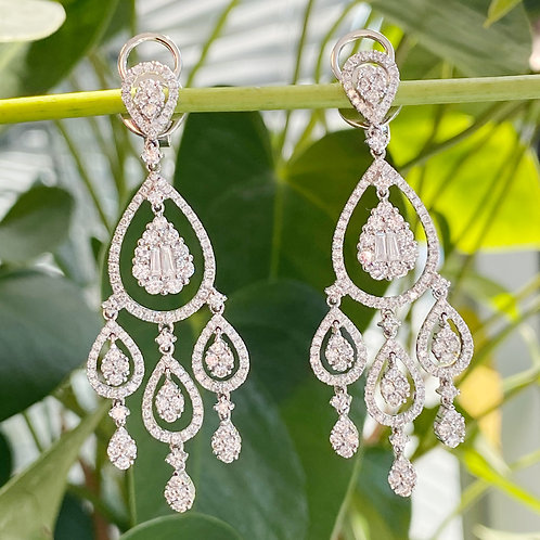 3.23CT. DIAMOND CHANDELIER EARRINGS