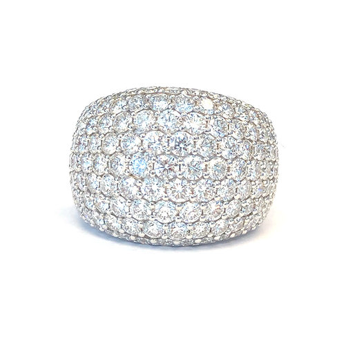 4.18CT. PAVE DIAMOND RIGHT HAND RING