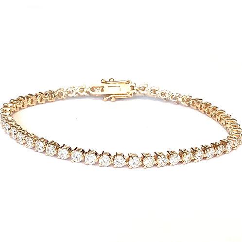 4.48CT. ROSE GOLD DIAMOND TENNIS BRACELET