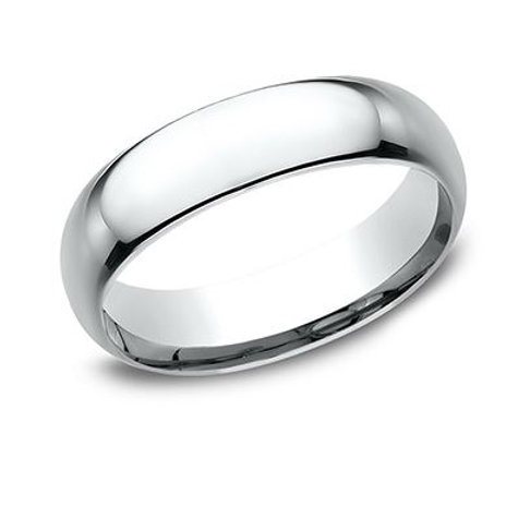 Benchmark® 6MM POLISHED-FINISH CLASSIC COMFORT-FIT MEN'S BAND SIZE 12