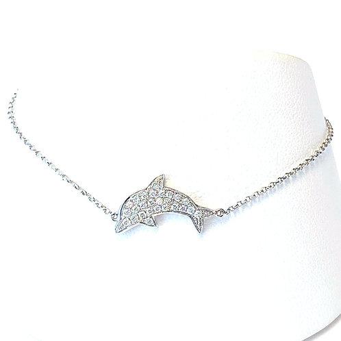 DIAMOND DOLPHIN WHITE GOLD BRACELET