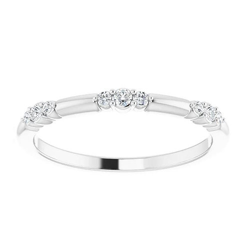 14KT WHITE GOLD DIAMOND STACKABLE RING