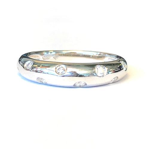 WHITE GOLD CELESTIAL GYPSY SET DIAMOND DOME RING
