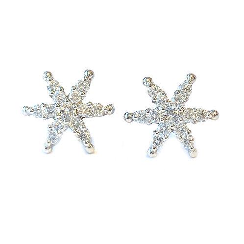 DIAMOND STARBURST STUD EARRINGS